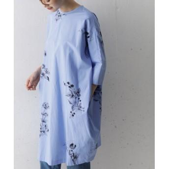 アーバンリサーチドアーズ mizuiro ind×DOORS 別注flower print wide one piece レディース BLUE FREE 【URBAN RESEARCH DOORS】