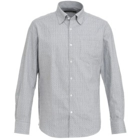 INTERMEZZO 吸湿発熱 無地調シャツ シャツ・ブラウス,セルリアンブルー