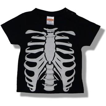 KID'STシャツ 骨 オモシロ かわいい だまし絵 Tシャツ (90)