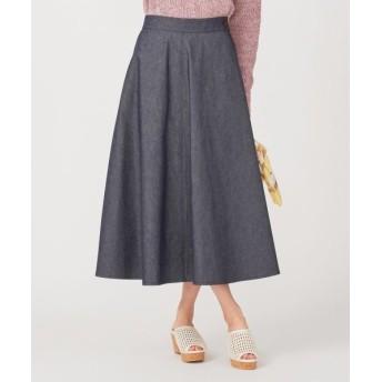 any SiS/エニィスィス 【洗える】デニムライクツイルフレア スカート ブルーシャンブレー 2