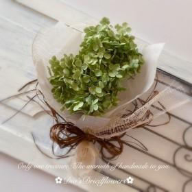 紫陽花アナベルのミニスワッグ
