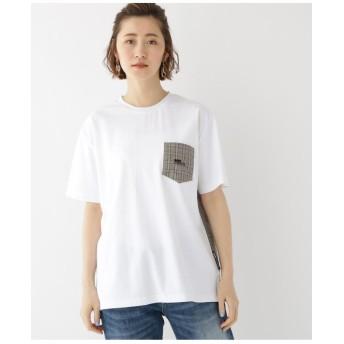 バックチェック 別地 切り替え 半袖 Tシャツ