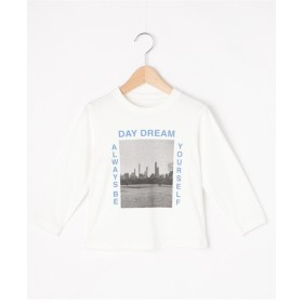 【160cm】フォト風プリントロングTシャツ
