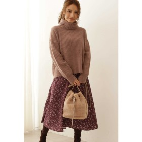 ◆フラワープリントフレアースカート