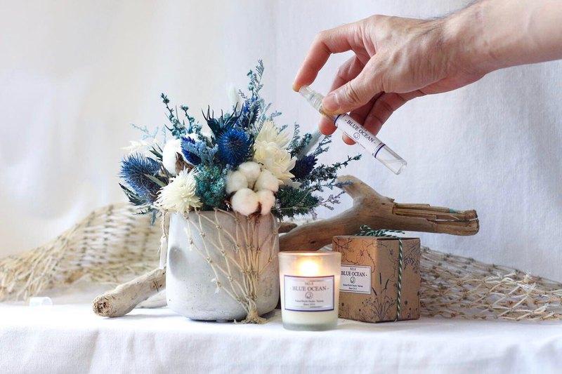 【靛藍星空】擴香石/桌花+蠟燭+香水製作課【原生態】