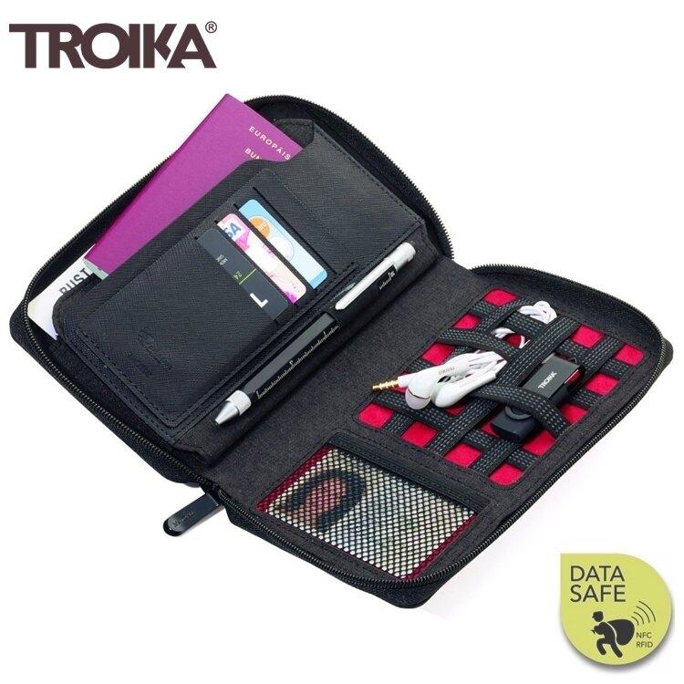耀您館★德國TROIKA防RFID-NFC信用卡防盜包旅行包TRV90/DG防感應護照包防感應錢包防盜刷包防側錄包旅行袋