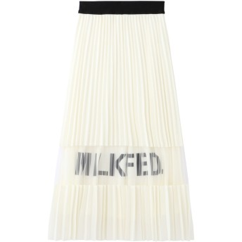 LOGO PLEATED SKIRT