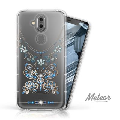 Meteor Nokia 8.1 奧地利水鑽殼 - 蝶戀鑽