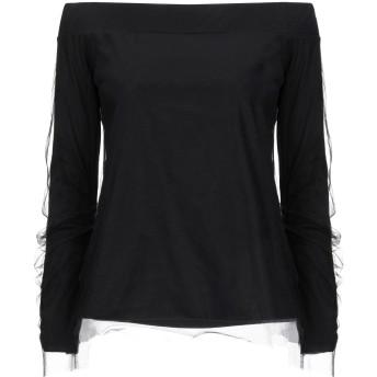 《セール開催中》JUCCA レディース T シャツ ブラック XS コットン 100% / ナイロン