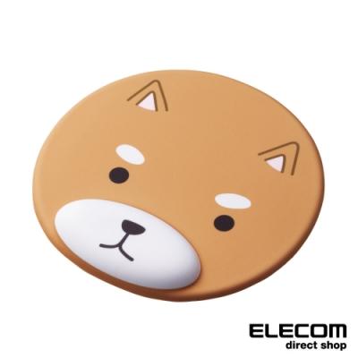 ELECOM 動物造型鼠墊-柴犬