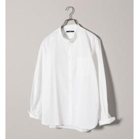 【シップス/SHIPS】 SC: ドビー ストライプ バンドカラー シャツ