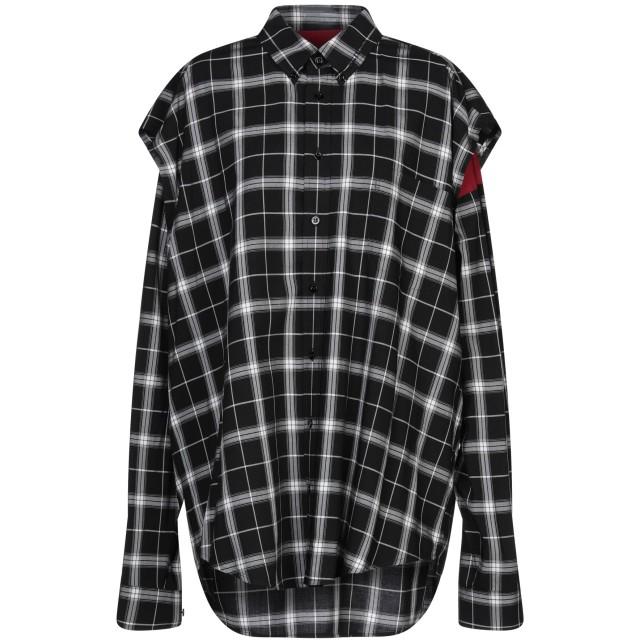 《セール開催中》BALENCIAGA レディース シャツ ブラック 34 コットン 100% / レーヨン / テンセル