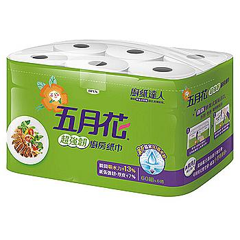 五月花超強韌廚房紙巾 60張*6捲*8組/箱