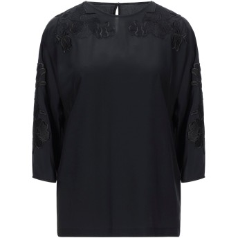 《セール開催中》DOLCE & GABBANA レディース ブラウス ブラック 36 シルク 100% / レーヨン / ポリエステル