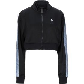 《セール開催中》MARCELO BURLON レディース スウェットシャツ ブラック S ポリエステル 55% / コットン 45% / ポリウレタン