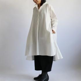 ●2020SALE●上質 紗織リネン麻コットン生地 拘る ロング シャツ ワンピース 長袖 B13