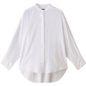 FLORENT フローレント 60コットンジョーゼットバックギャザーシャツ ホワイト
