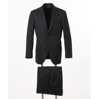 J.PRESS/ジェイプレス 【HIGHLANDS PEPPIN MERINO】エレガンスツイル スーツ ブラック系 AB6