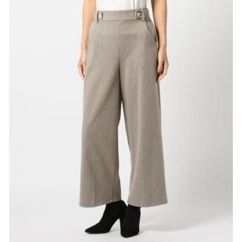 【ミューズ リファインド クローズ/MEW'S REFINED CLOTHES】 サイドボタンあったかワイドパンツ