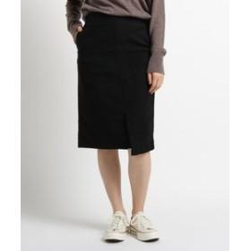 【JET:スカート】【洗える】モールスキンストレッチタイトスカート