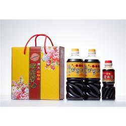 屏大醬油伴手禮盒三件組(醬油710ml*2+醬油膏300ml*1) X8組