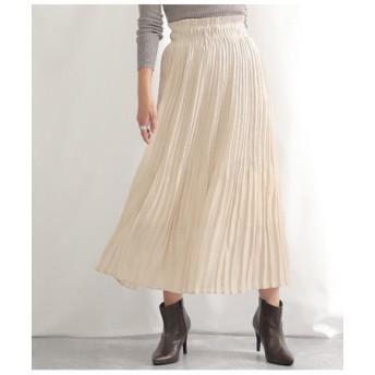 シャイニーフィラメントサテンプリーツスカート