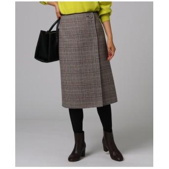 [L]グレンチェックリバースカート
