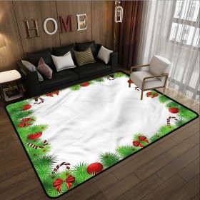 Hallway ラグ クリスマス ペンギン テディベア 静電気防止 撥水ラグ 4'11x6'10(150cm210cm)