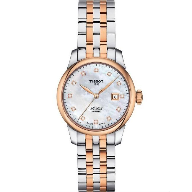 TISSOT 天梭表 T0062072211600 LE LOCLE 力洛克優雅氣質時尚機械腕錶 /銀白 29mm