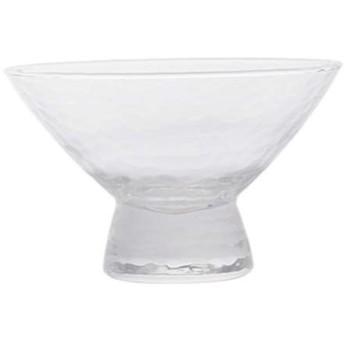 デザートカップ、ハイボトムグラス、赤ワイングラス、アイスクリームカップ、hammerで打たれた木目、円錐形、容量250ml、ホームバーパーティーに最適