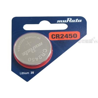 muRata村田(原SONY) 鈕扣型 鋰電池 CR2450 (5顆入) 3V