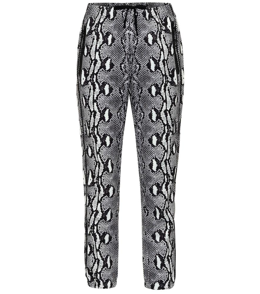Snake-print leggings