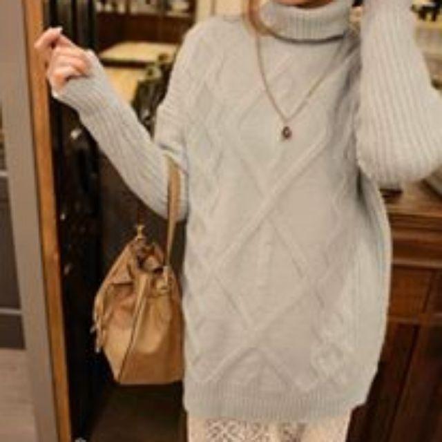 全新轉賣 kashin reishop藍色高領長版毛衣 蕾絲襯衫也有賣