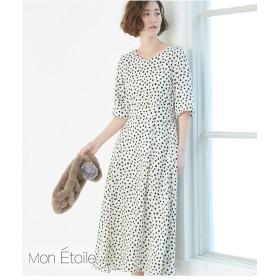【一部店舗限定】【Mon E'toile】ダルメシアンプリントワンピース