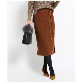 [L]【WEB限定/ハンドウォッシュ】タイトリブニットスカート