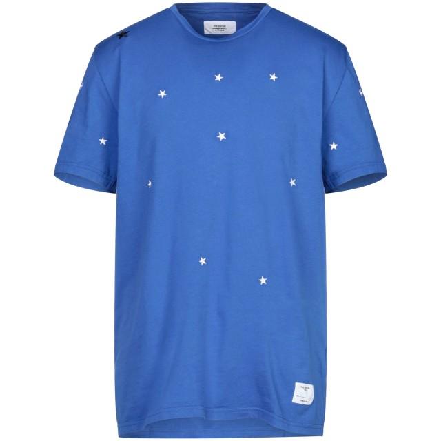 《セール開催中》THE EDITOR メンズ T シャツ ブライトブルー XXL コットン 100%