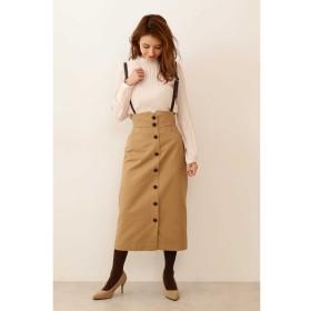 ◆サスペンダー付きワークタイトスカート