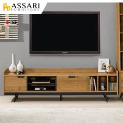 ASSARI-摩德納6尺電視櫃(寬182x深40x高50cm)