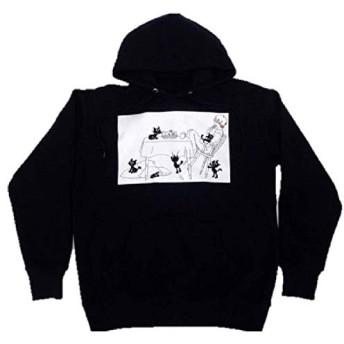 【LEVEL.4】キヨ猫パーカー プルオーバー ブラック レディース フリーサイズ