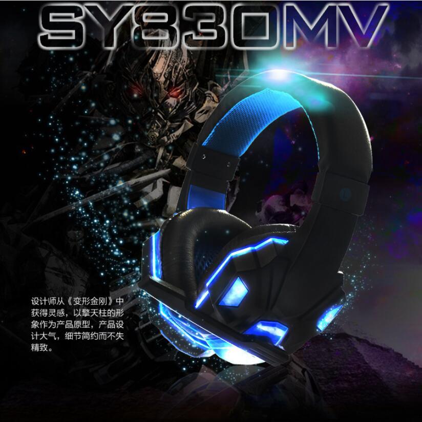 Yazhan電競遊戲必備頭戴式耳機 發光版耳罩式電腦配備 降噪帶麥克風有線耳麥 重低音質 透氣抗壓 佩戴舒適