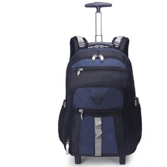 バッグパック カート 子供用 かわいい ハイキングバックパック、学生のバックパック、ローリングバックパックトロリーバッグスクールバッグバックパック旅行バックパック軽量キャスター付きスクールバッグ/ラップトップ/学生のための旅行荷物、ダークブルー、S