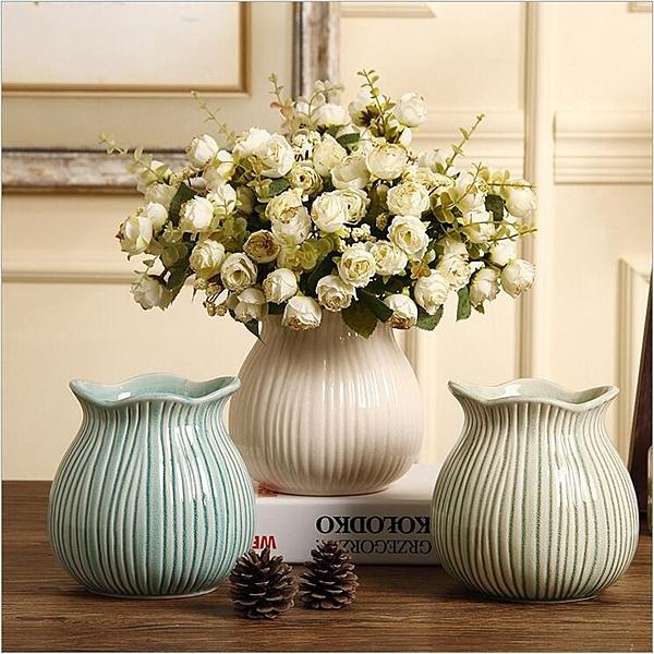陶瓷花瓶客廳擺件電視櫃裝飾插花花器【英賽德3C數碼館】