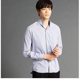 【NICOLE:トップス】ライトドビーイタリアンカラーシャツ