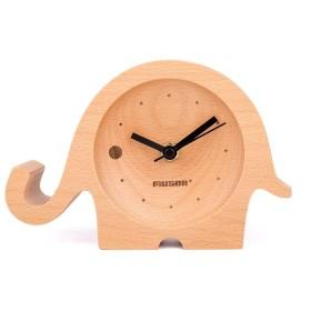 クリエイティブデザイン家具の装飾のギフトの赤ちゃん象のデスクトップクロックカタツムリ木製ブナクルミクルミ