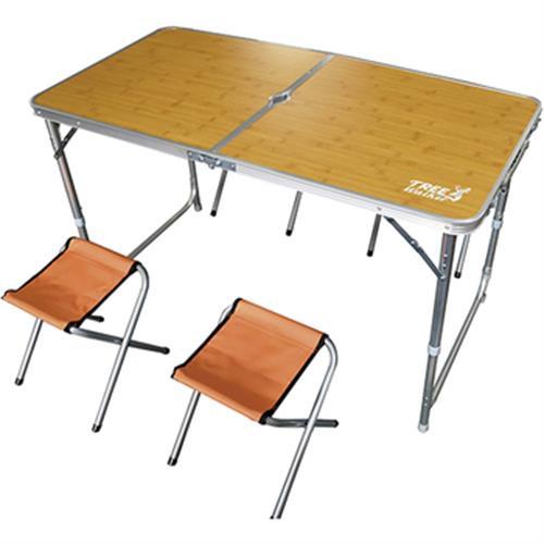 露遊聚 便攜式桌椅組-顏色隨機(收納尺寸:長63.5x寬63.5x厚6cm)[大買家]