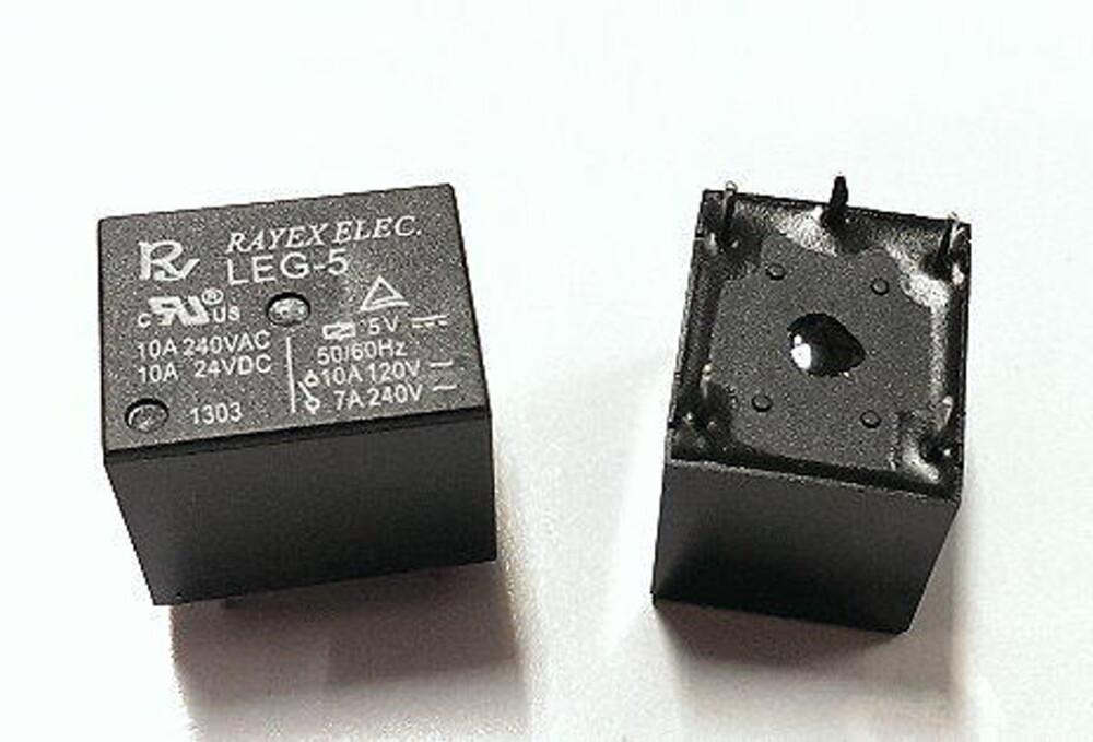 rayex pcb 繼電器leg-5 (dc5v 10a 5p)
