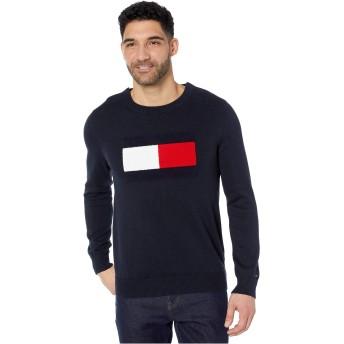 [トミーヒルフィガー] メンズ ニット、セーター Sweater with VELCRO Brand Closure at Sho [並行輸入品]