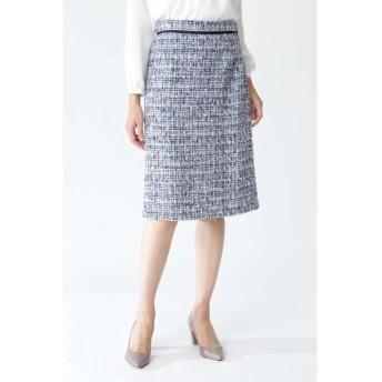 NATURAL BEAUTY/ナチュラルビューティー ツィードAラインスカート ネイビー 38