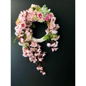 枝垂れ桜のリース