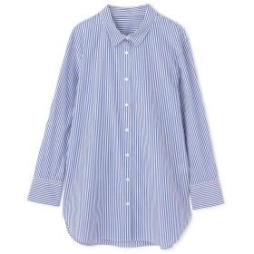 【公式/NATURAL BEAUTY BASIC】【先行予約2月上旬-中旬入荷予定】[洗える]チュニクシャツ/女性/ブラウス/ロンドンストライプ/サイズ:M/コットン 100%